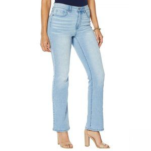 NWT DG2 Classic Stretch Boot Cut Jeans 12 Chambray